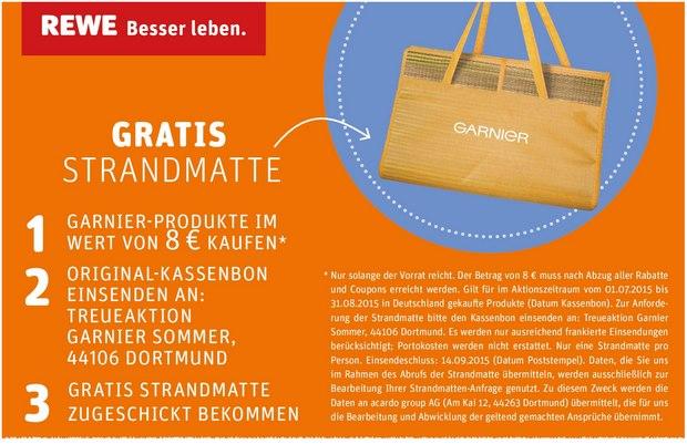 Garnier Strandmatte gratis