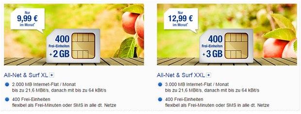 GMX-Handytarife All-Net & Surf XL und XXL