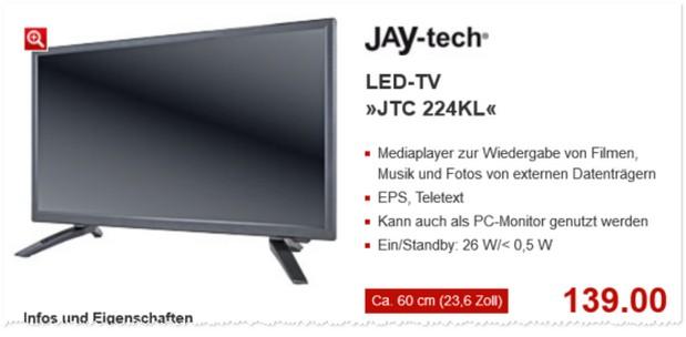 Jay-tech Fernseher JTC 224KL