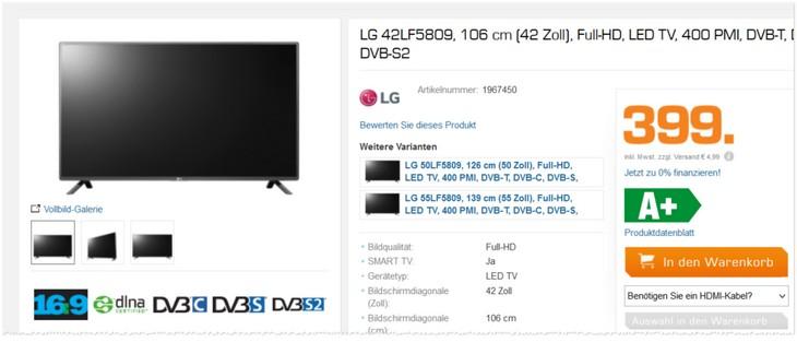 LG Fernseher 42LF5809