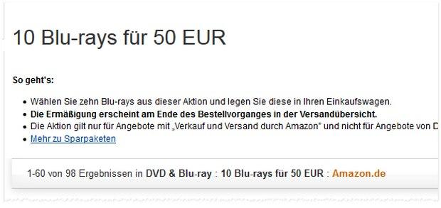 Media Markt Blu-ray-Aktion auch bei Amazon