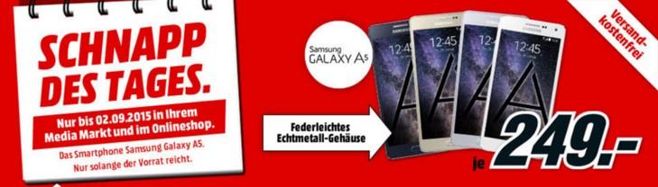 Media Markt Schnapp des Tages am 2.9.2015: Samsung Galaxy S5