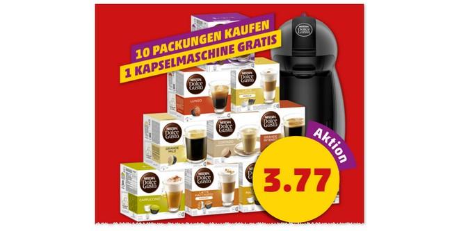 Nescafé Dolce Gusto Kapselmaschine gratis