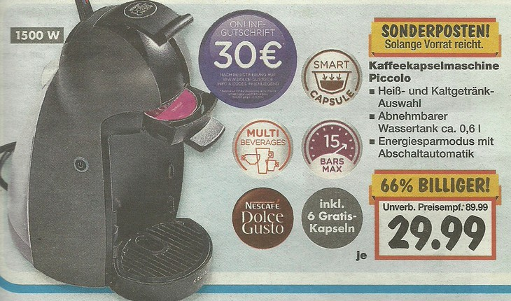 nescaf dolce gusto kaufland angebot ab 27. Black Bedroom Furniture Sets. Home Design Ideas