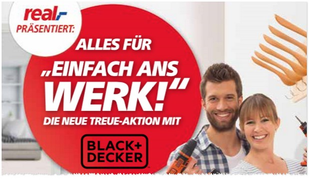 Real Treuepunkte-Aktion mit Black & Decker Prämien