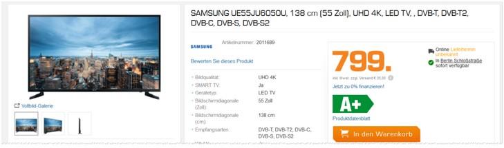 Samsung UE55JU6050U Fernseher