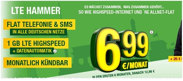 smartmobil LTE-Hammer ab 6,99 €