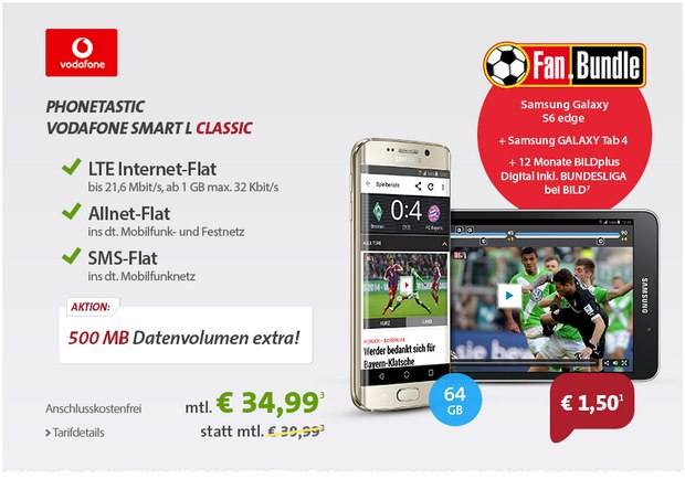 Sparhandy Phonetastic Mondays ab 17.8.2015 mit Vodafone Smart L