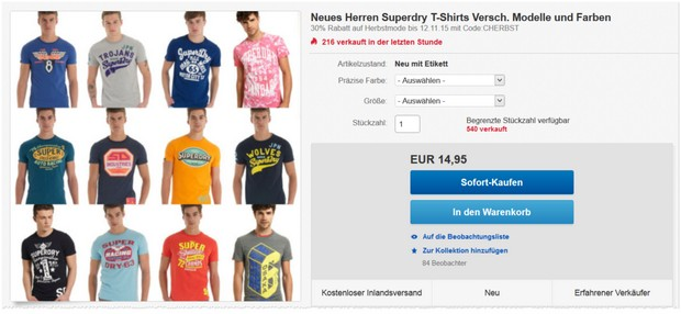 Superdry T-Shirts Herren