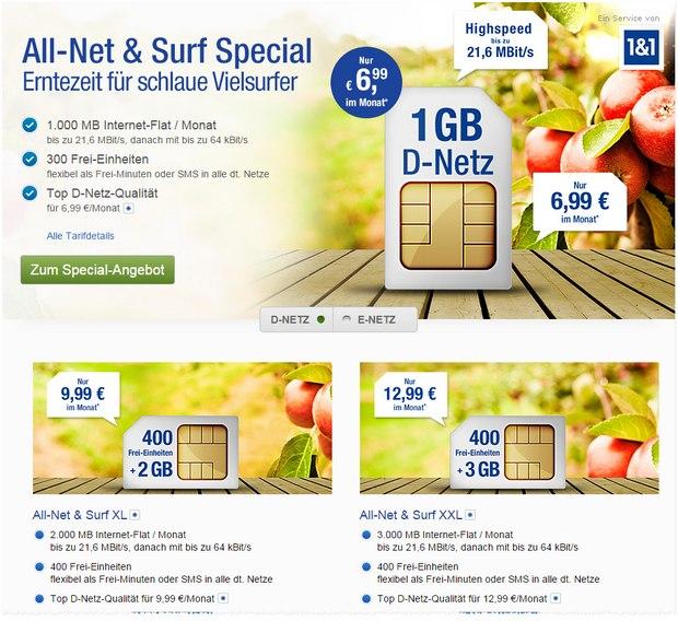 WEB.DE Mobilfunk-Angebot ab 1. September 2015