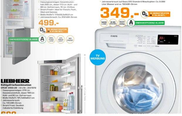AEG Waschmaschine L68480FL als Saturn-Angebot ab 28.9.2015 aus der Prospekt-Werbung für 349 €