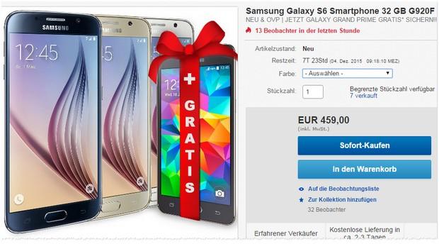 Samsung Galaxy S6 kaufen und Grand Prime gratis sichern