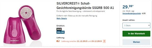Silvercrest Gesichtsreinigungsbürste