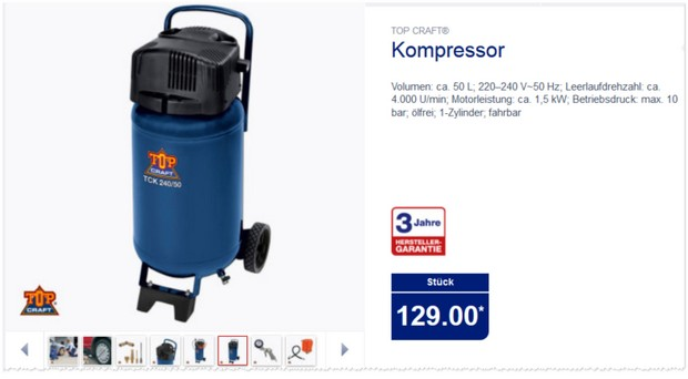 ALDI Kompressor von Top Craft
