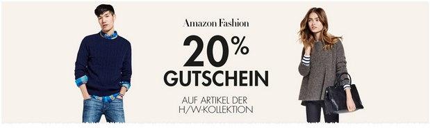 Amazon Fashion-Gutschein mit 20% Rabatt auf die Herbst-Winter-Mode