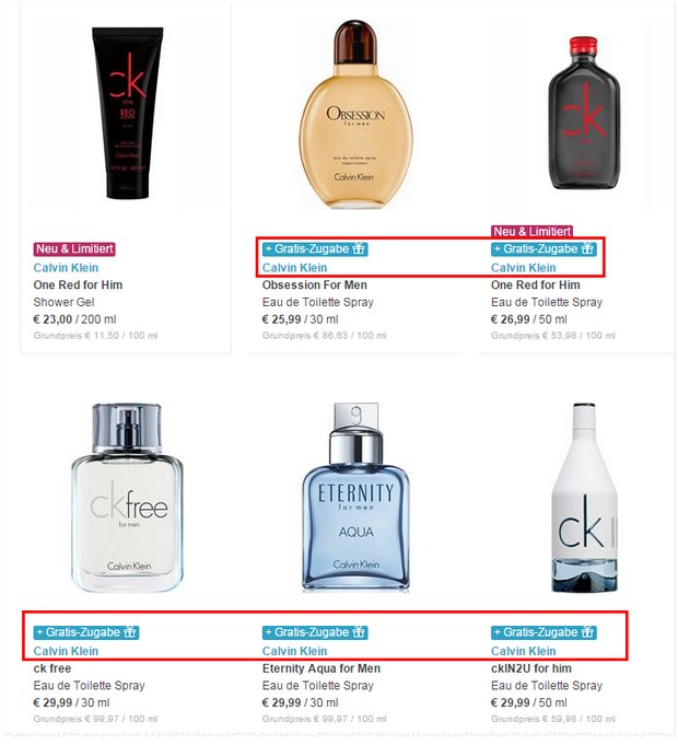 CK Kopfhörer gratis als Zugabe zum CK-Parfümkauf bis 6.9.2015