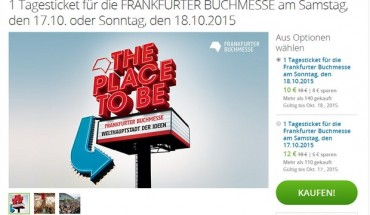 Frankfurter Buchmesse Ticket 2015 bei Groupon ab 10 €