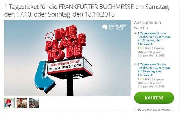 Frankfurter Buchmesse Ticket 2015 bei Groupon ab 10 €