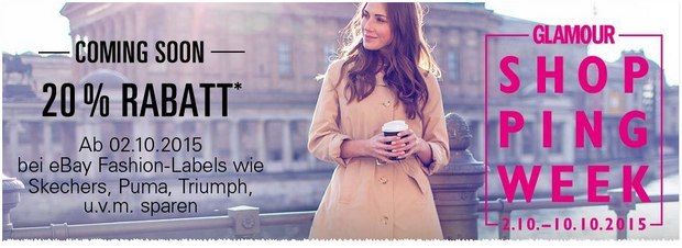 Glamour Shopping Week mit 20% Rabatt