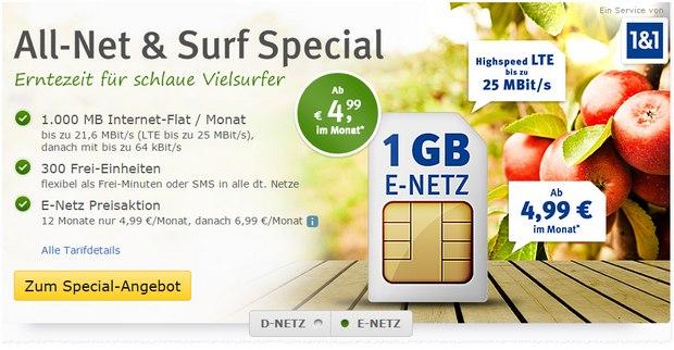 GMX-Handytarif Allnet & Surf Special
