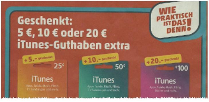 iTunes Guthaben extra bei Penny