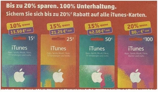 iTunes-Rabatt im PENNY Markt ab dem 12.10.2015