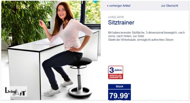 ALDI Hocker bzw. Living Art Sitztrainer bei ALDI Nord