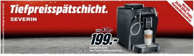 Media Markt Tiefpreisspätschicht am 28.9.2015: Severin Kaffeevollautomat