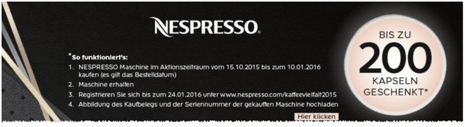nespresso maschine angebot mit kapseln table basse relevable. Black Bedroom Furniture Sets. Home Design Ideas