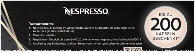 Nespresso Kapsel-Cachback