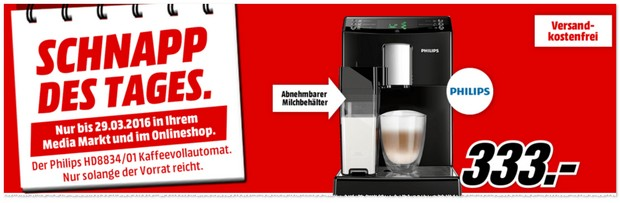 Philips Kaffeevollautomat HD8834/01