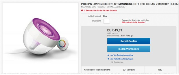 Philips Living Colors Iris Clear