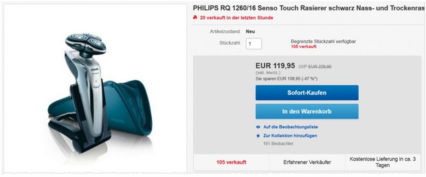 Philips Rasierer SensoTouch