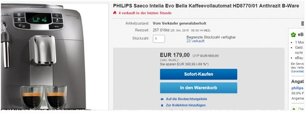 Philips Saeco Intelia Evo Bella HD 8770