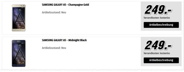 Samsung Galaxy A5 Angebot