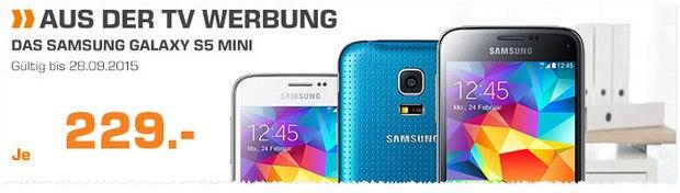 Samsung Galaxy S5 mini als Saturn-Angebot bis Montag, 28.9.2015, nur 229 €
