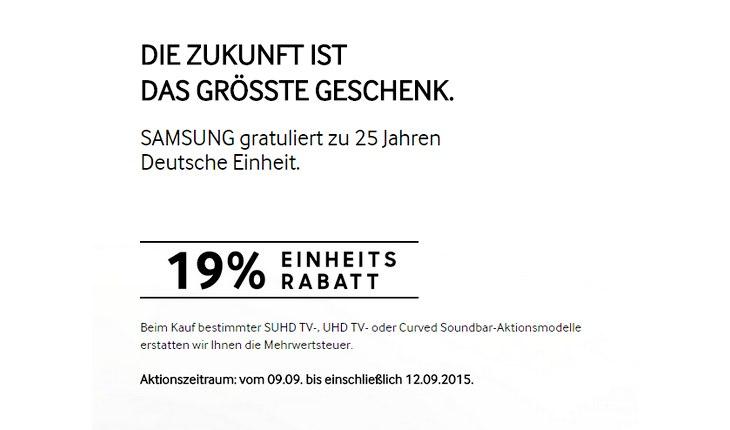 Samsung Mehrwertsteuer-Aktion