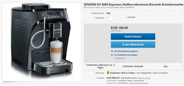Severin Kaffeevollautomat KV 8055