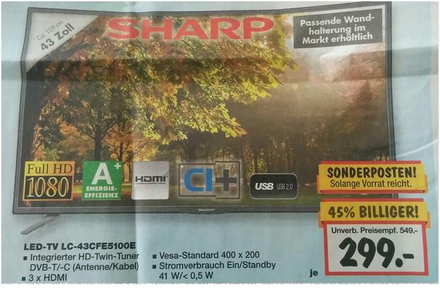 Sharp LC-43CFE5100E Fernseher