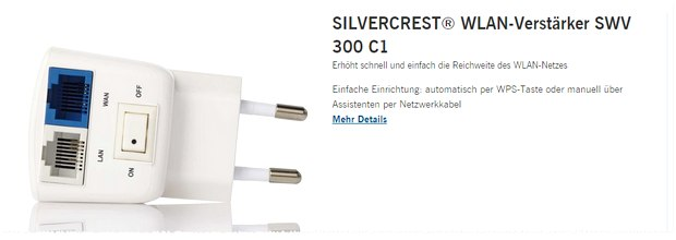 Silvercrest WLAN-Repeater SWV 300 C1