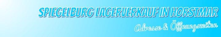 Spiegelburg Lagerverkauf Horstmar - Öffnungszeiten & Adresse