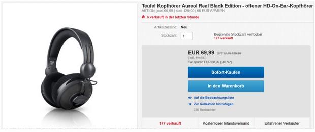 Teufel Kopfhörer Aureol Real