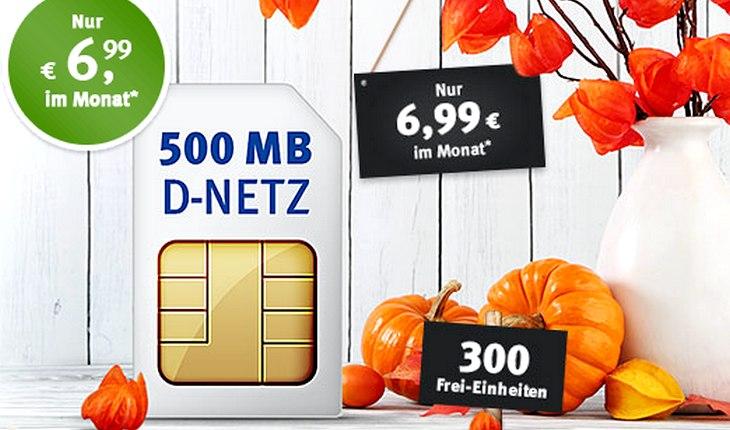 6,99 Euro 1&1 Handytarif von GMX (All-Net 300)