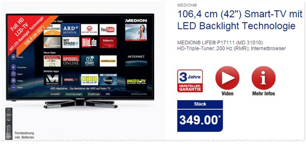 ALDI Fernseher Medion P17111 MD31010