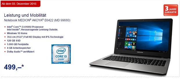 ALDI Notebook Medion Akoya E6422