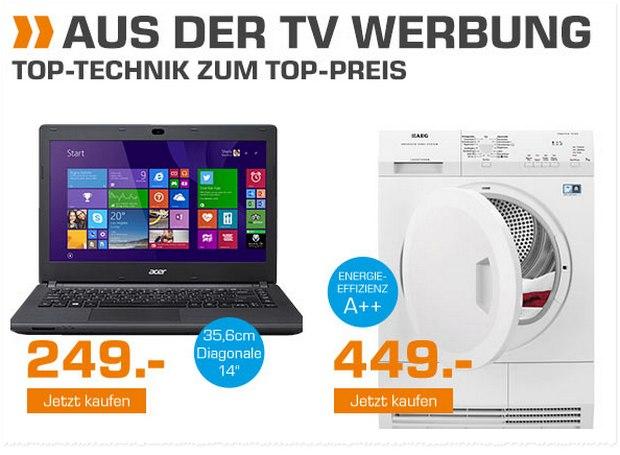 Acer Aspire ES1-411: Notebook aus der Saturn-Werbung ab 2.11.2015 für 249 €
