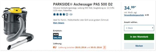 LIDL Aschesauger