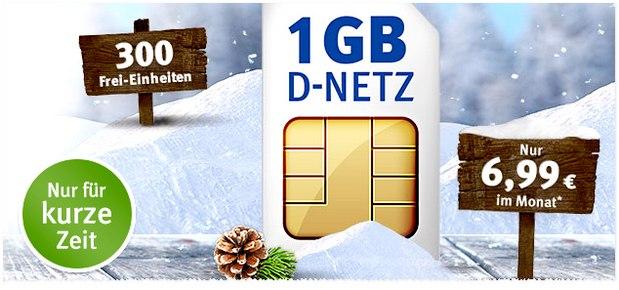 All-Net 300 von 1&1 / GMX für 6,99 Euro mit 1 GB Internet-Flat und 300 Einheiten