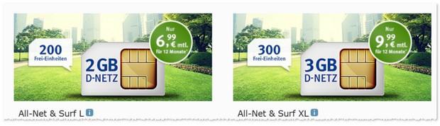 Allnet & Surf XL mit 3GB