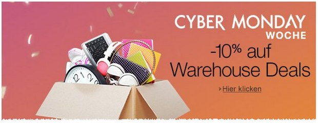 Amazon Warehouse Deals Gutschein zur Cyber Monday Woche